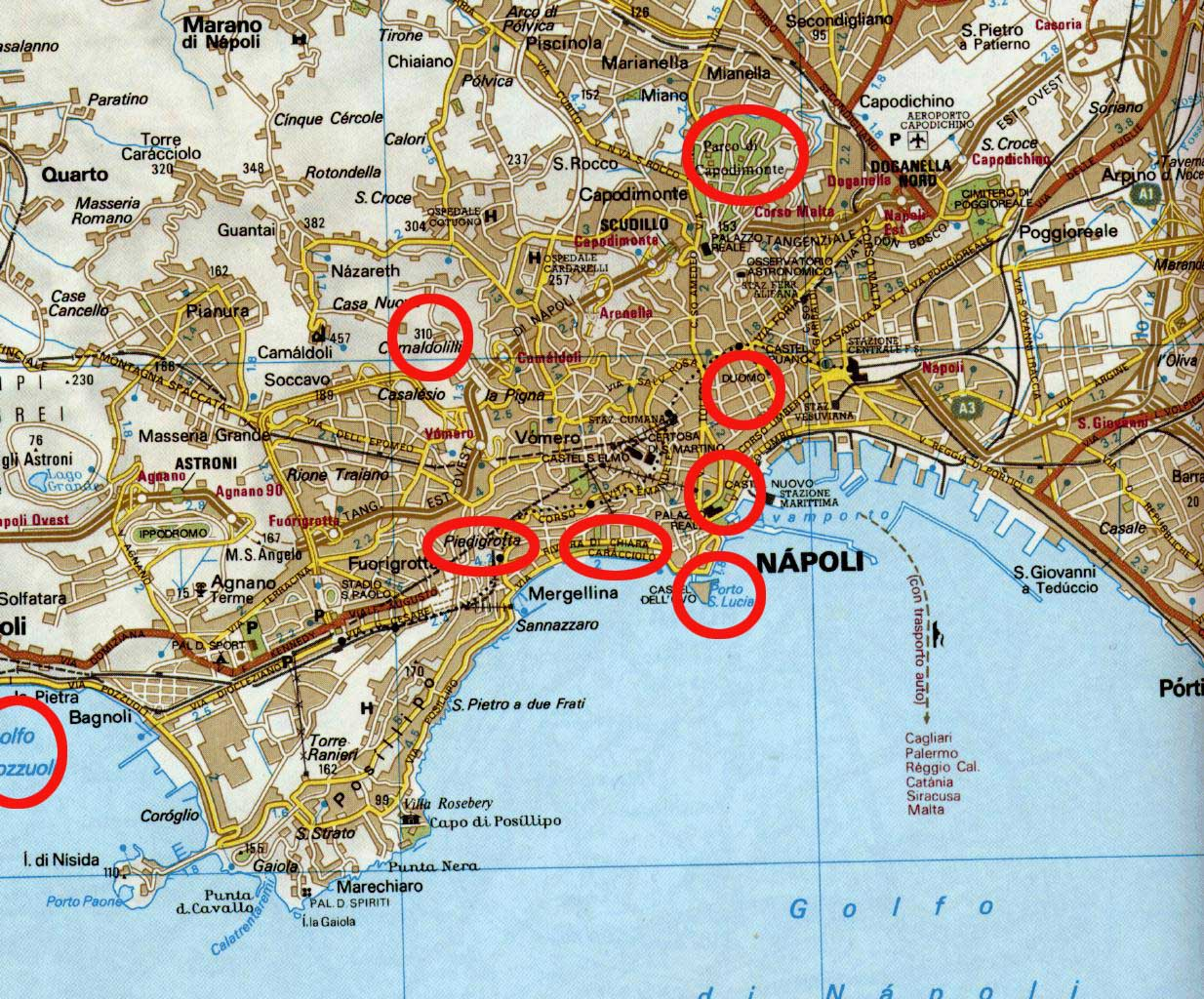 naples map. naples lifedeath  miracle