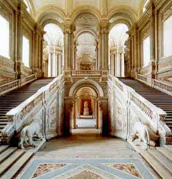 interior shot of Caserta palace