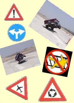 collage of traffic signs