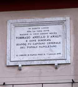plaque on M.'s house in Naples