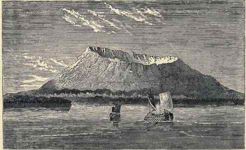 old print of Vesuvius