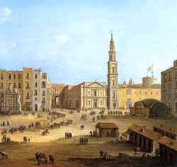 Painting of Piazza Mercato